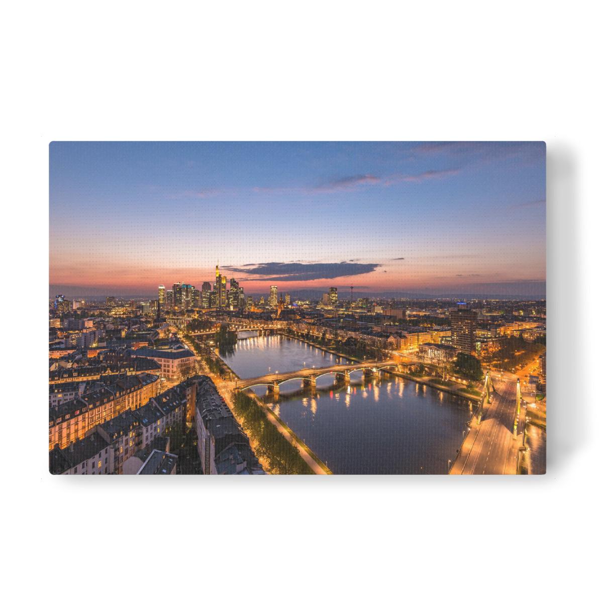Frankfurt Skyline Leinwand