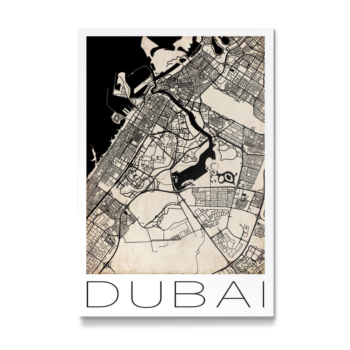 Retro Map of Dubai als Galerie-Print bei artboxONE kaufen