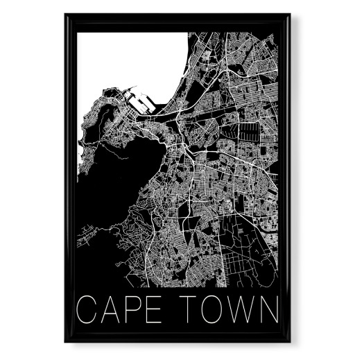 Retro Map Cape Town South Africa als Poster bei artboxONE kaufen