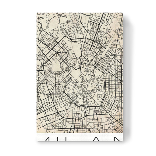 Purchase the Retro Map of Milan Italy as a Poster at artboxONE