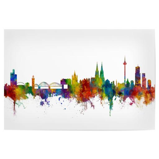 Poster online kaufen bei der artboxone - Koln skyline leinwand ...