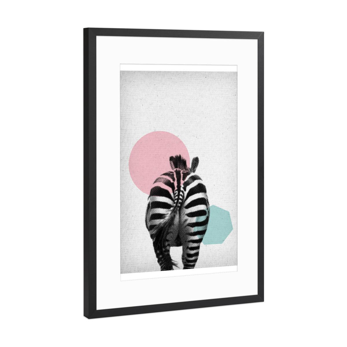 Zebra 01 als Gerahmt bei artboxONE kaufen