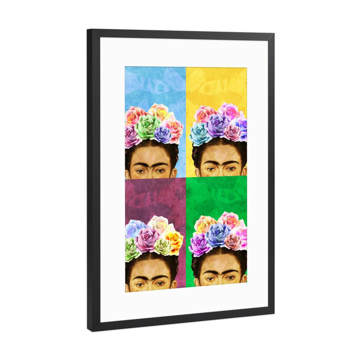 Pop Art Frida als Gerahmt bei artboxONE kaufen