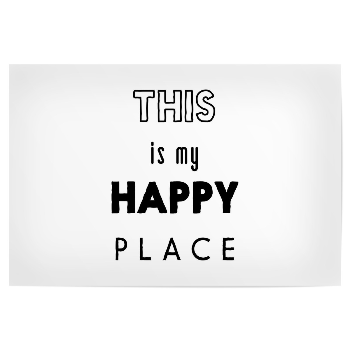 This is my Happy Place 12x12 cm Poster