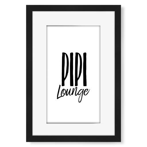 Pipi Lounge Gerahmt