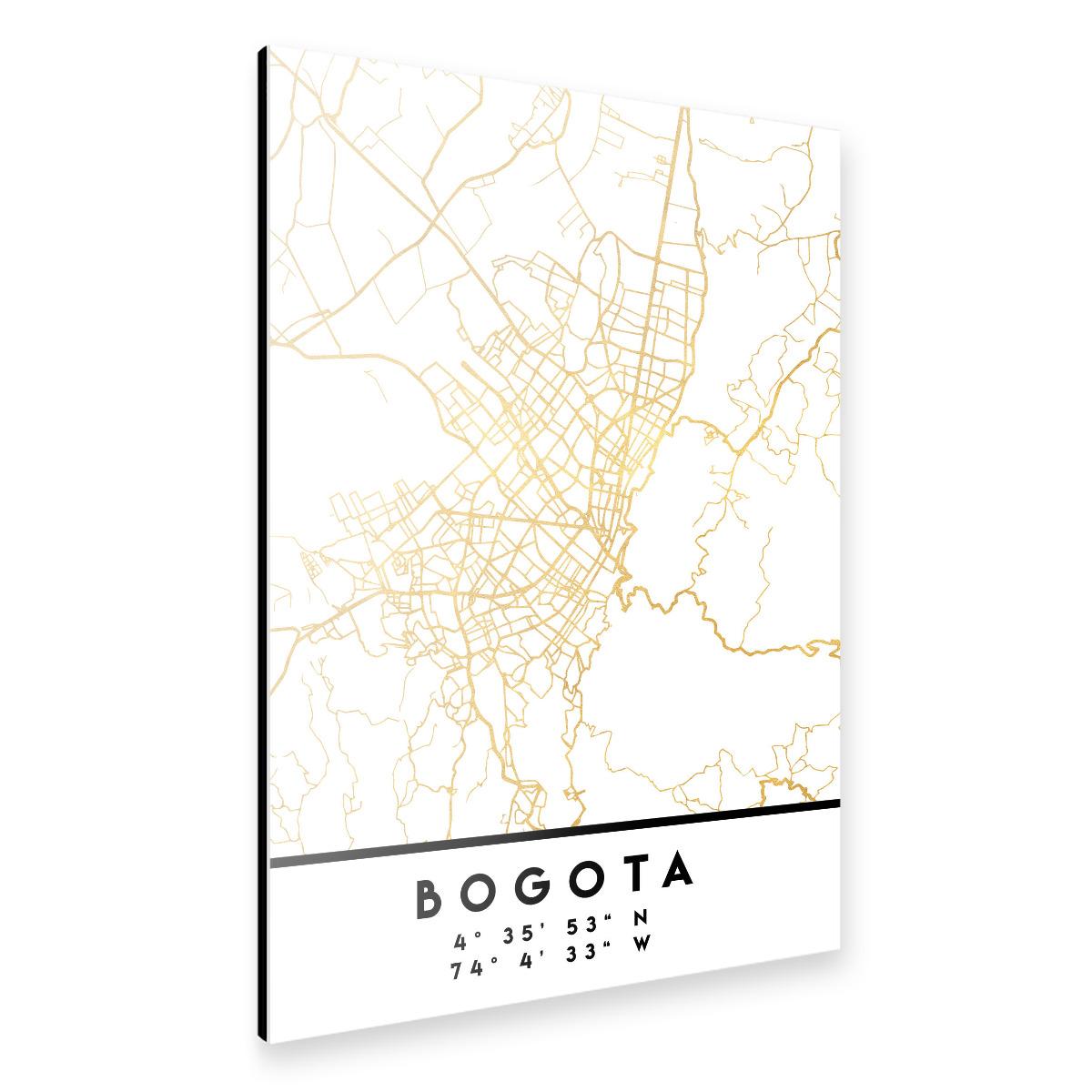 BOGOTA COLOMBIA STREET MAP ART als Alu-Print bei artboxONE ...