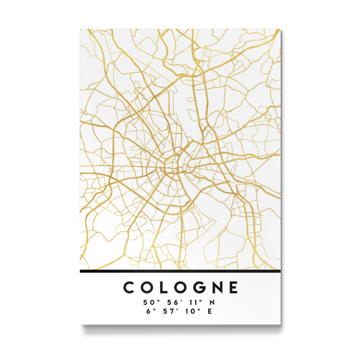 COLOGNE GERMANY STREET MAP ART als Galerie-Print bei artboxONE kaufen