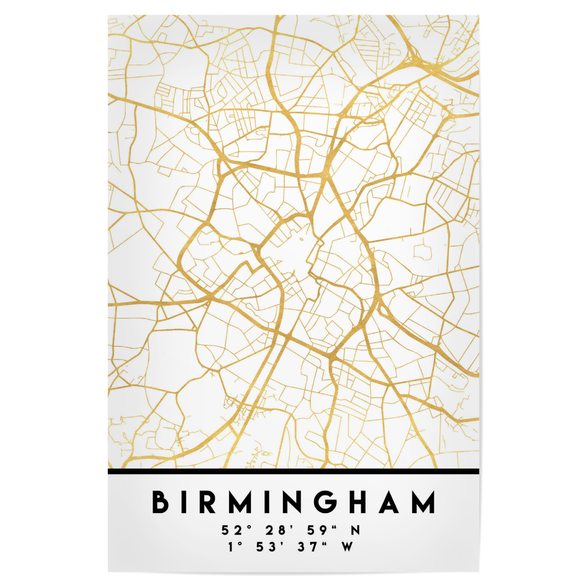 Map Of Birmingham England.Purchase The Birmingham England Street Map Art As A Poster At Artboxone
