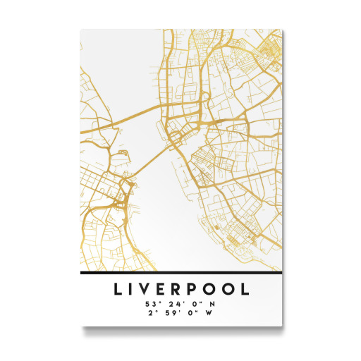 LIVERPOOL ENGLAND STREET MAP ART als Poster bei artboxONE kaufen
