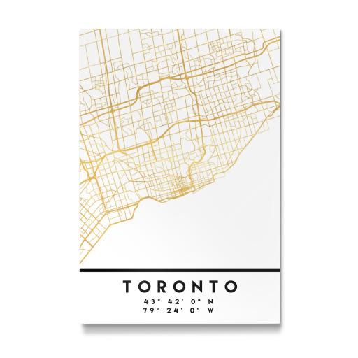 TORONTO CANADA STREET MAP ART als Postkarten bei artboxONE kaufen
