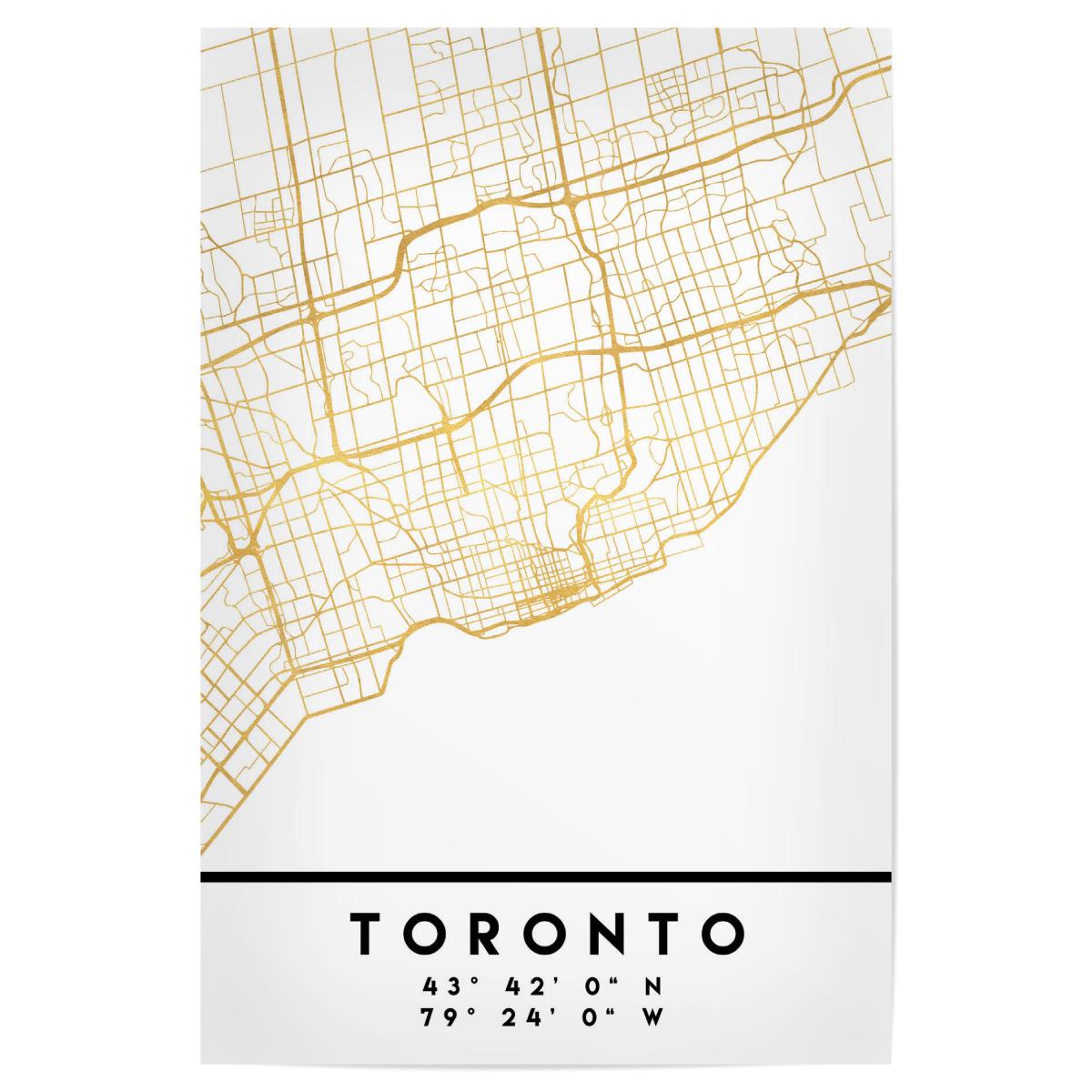 TORONTO CANADA STREET MAP ART als Poster bei artboxONE kaufen