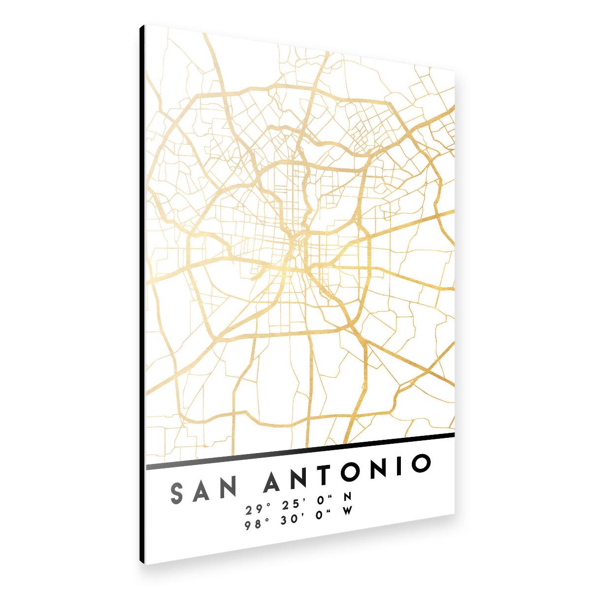 SAN ANTONIO TEXAS STREET MAP als Alu-Print bei artboxONE kaufen