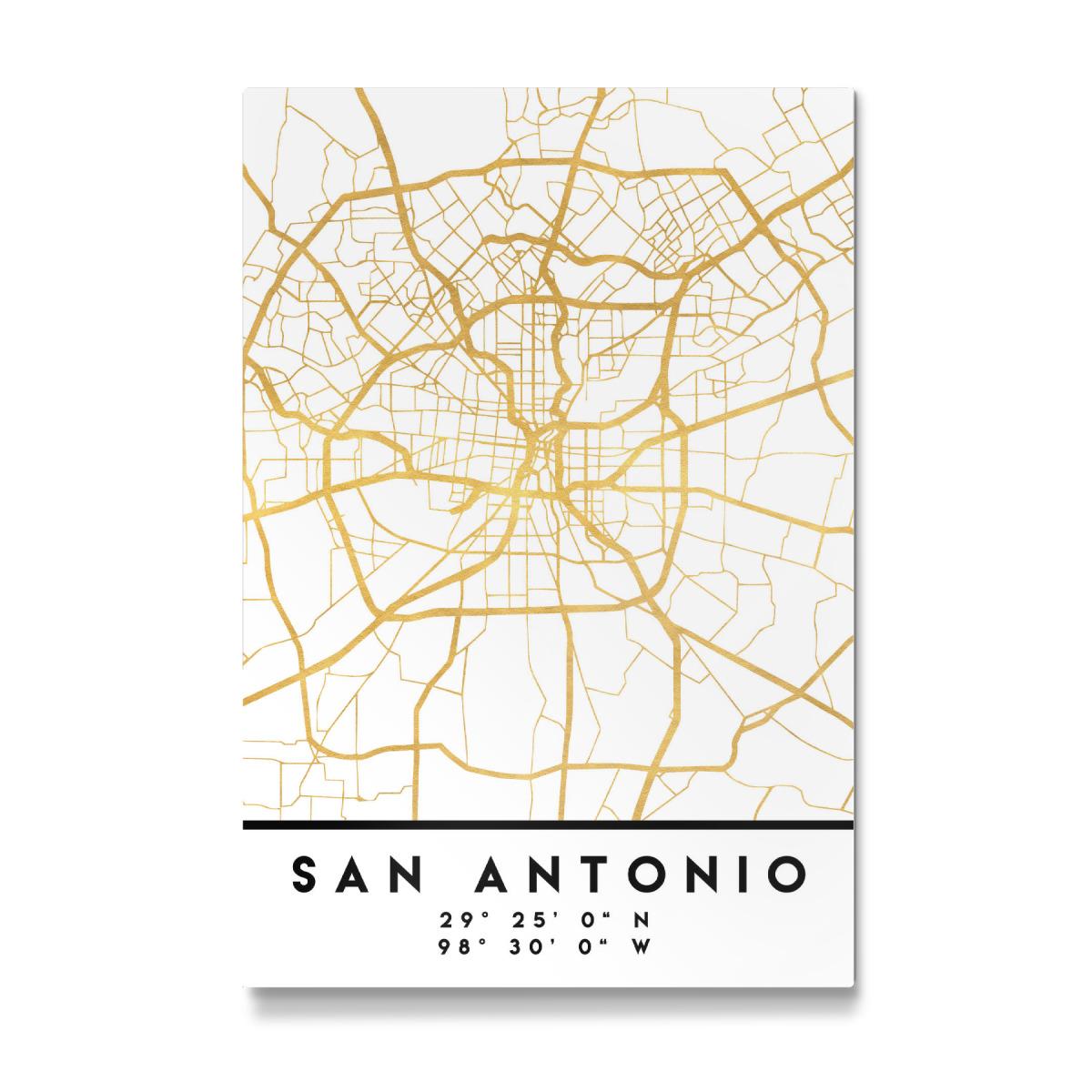 SAN ANTONIO TEXAS STREET MAP als Galerie-Print bei artboxONE ...