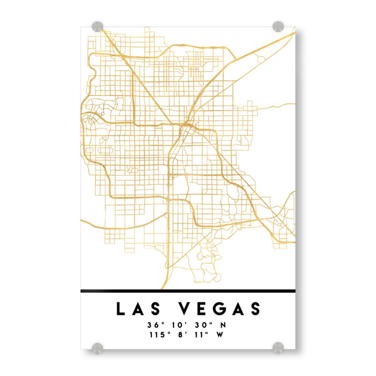 LAS VEGAS NEVADA STREET MAP ART als bei artboxONE kaufen