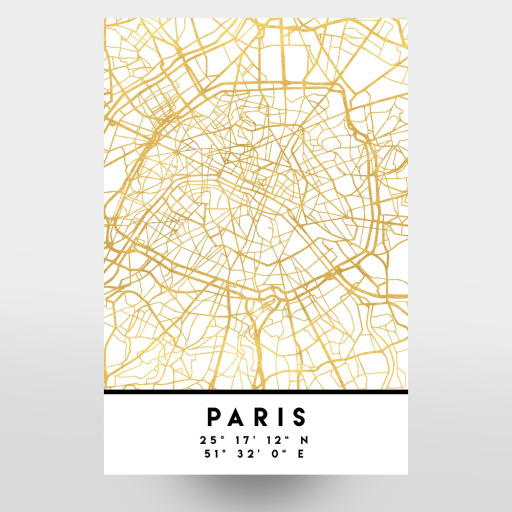 PARIS FRANCE STREET MAP ART als Case bei artboxONE kaufen