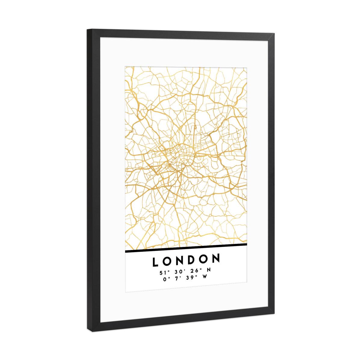 Street Map London Uk.Purchase The London England Street Map Art As A Frame At Artboxone