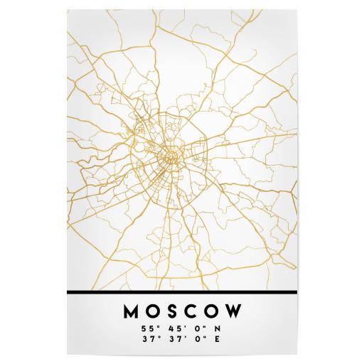 MOSCOW RUSSIA STREET MAP ART als Gerahmt bei artboxONE kaufen