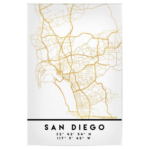 SAN GO CALIFORNIA CITY MAP ART als Alu-Print bei artboxONE kaufen California City Maps on