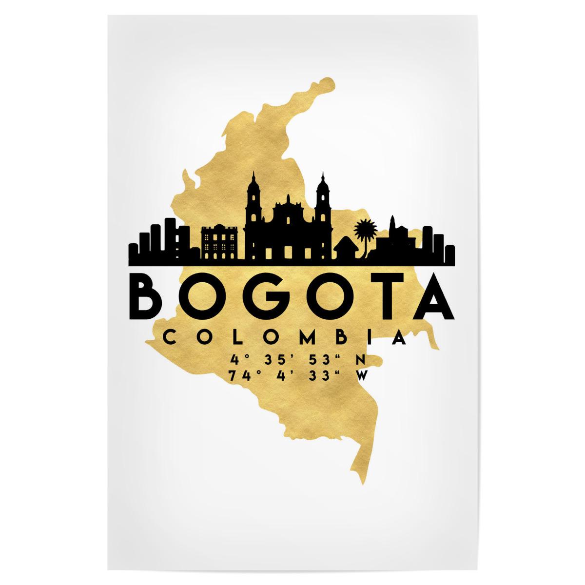 BOGOTA COLOMBIA SKYLINE MAP ART als Poster bei artboxONE kaufen