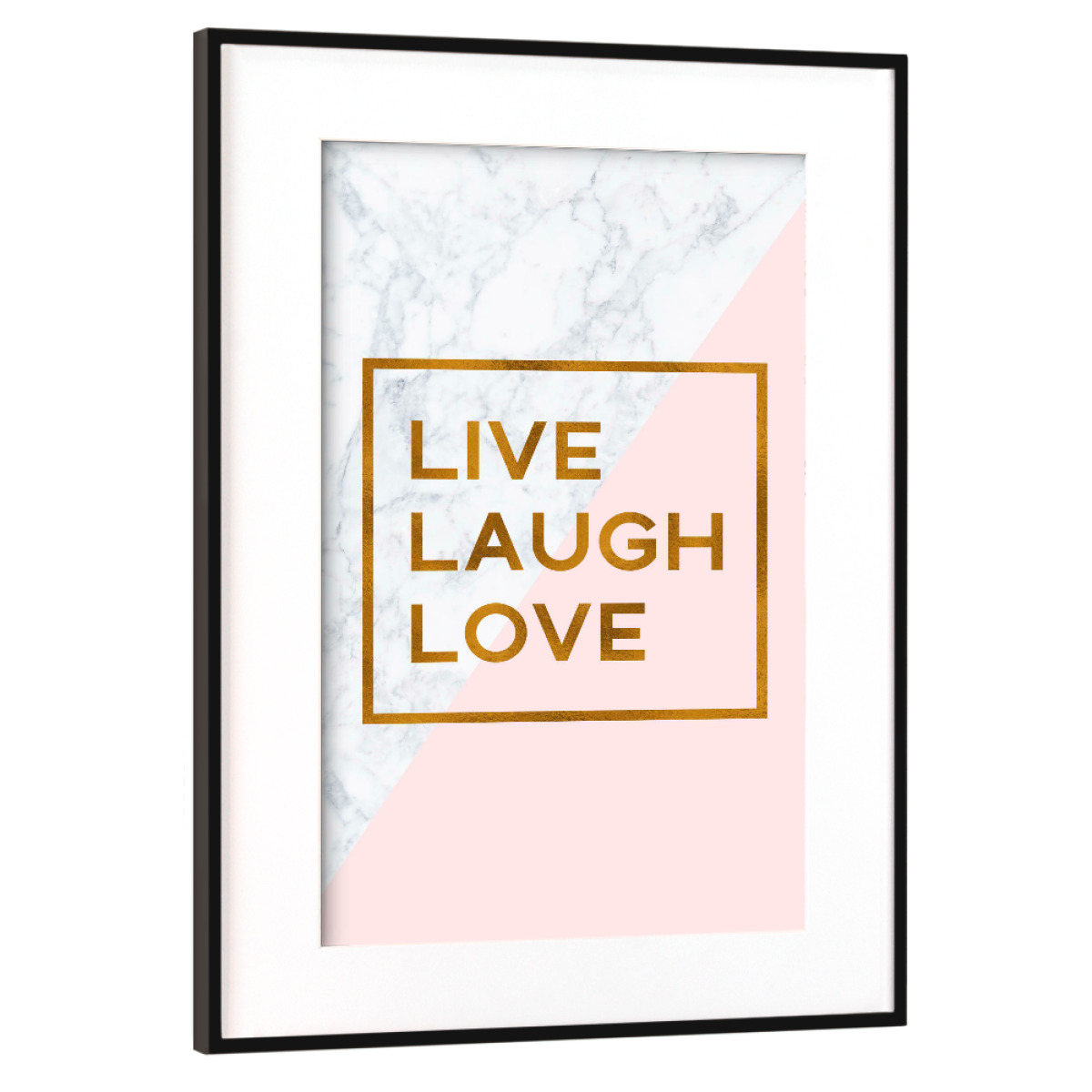 Purchase the Bronze Foil Live Laugh Love as a Frame at artboxONE