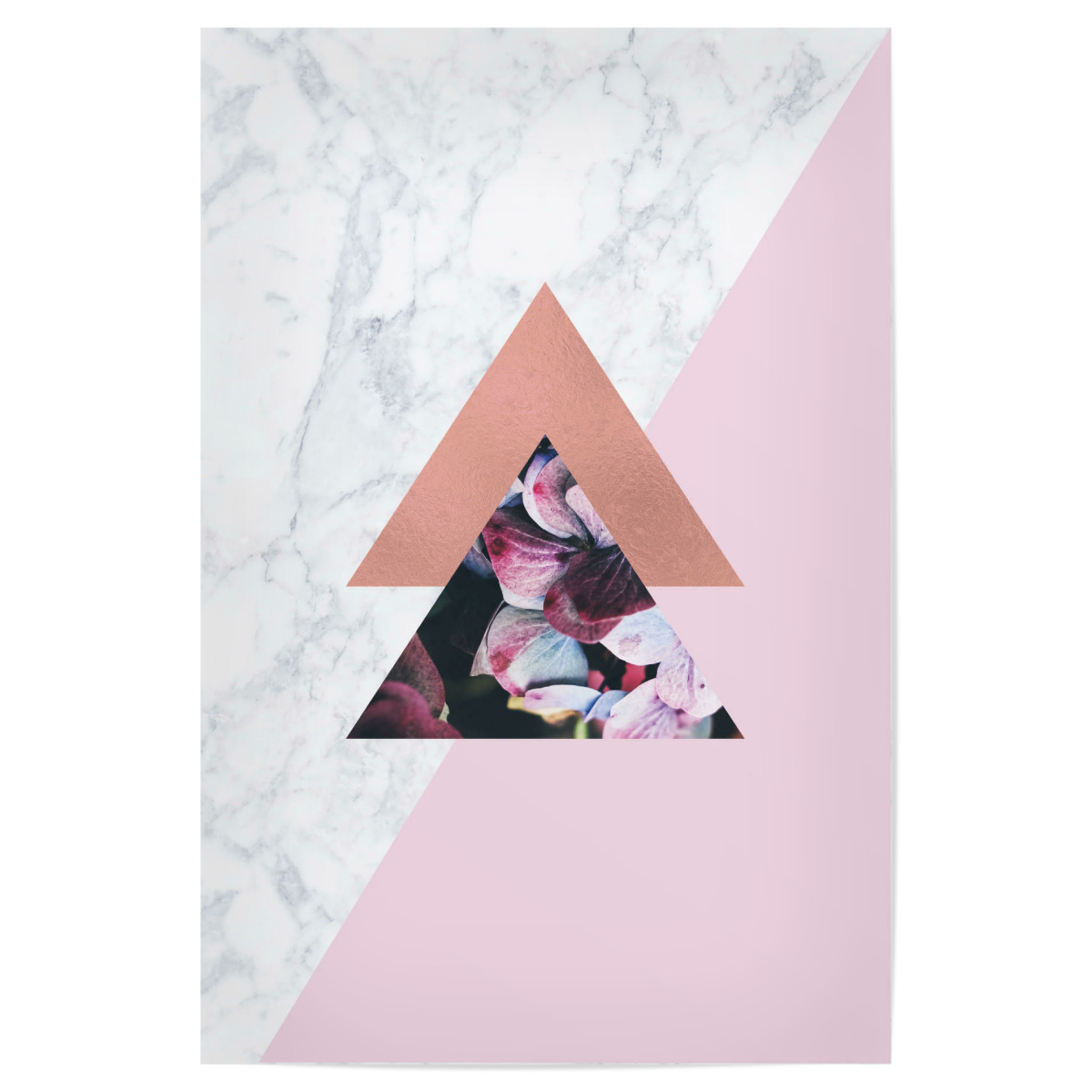 Rose Gold Geometric Marble Pink Als Poster Bei Artboxone Kaufen