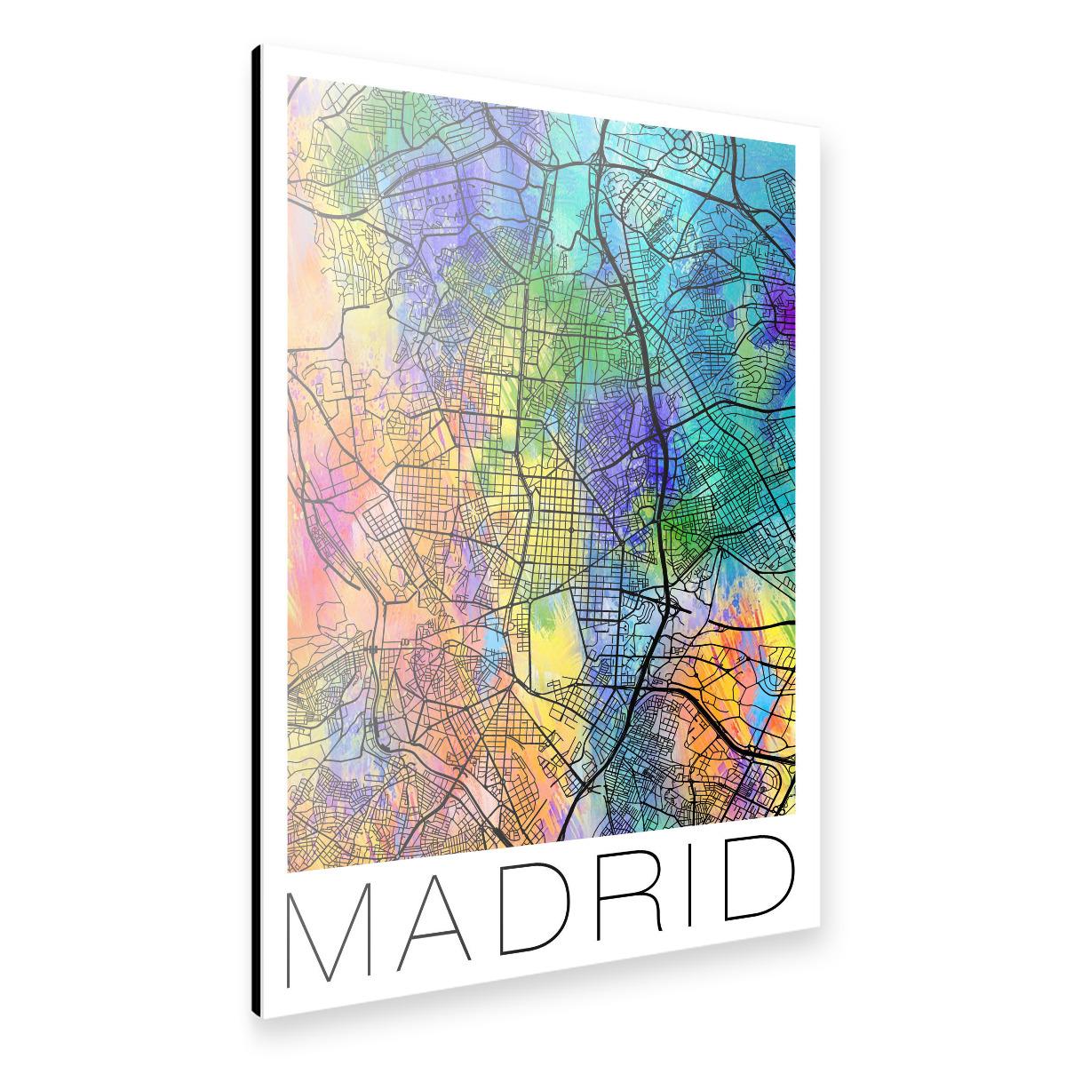 Retro Map of Madrid, Spain als Alu-Print bei artboxONE kaufen