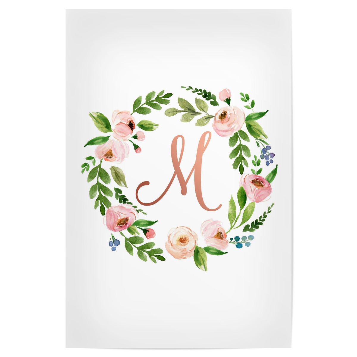 Purchase the Initial Letter M Rose Gold as a Poster at artboxONE