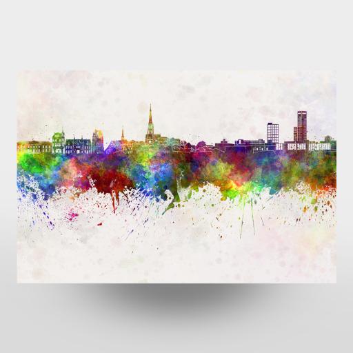 Bristol Panorama Format Modernes Bild auf Leinwand Wandbild Poster