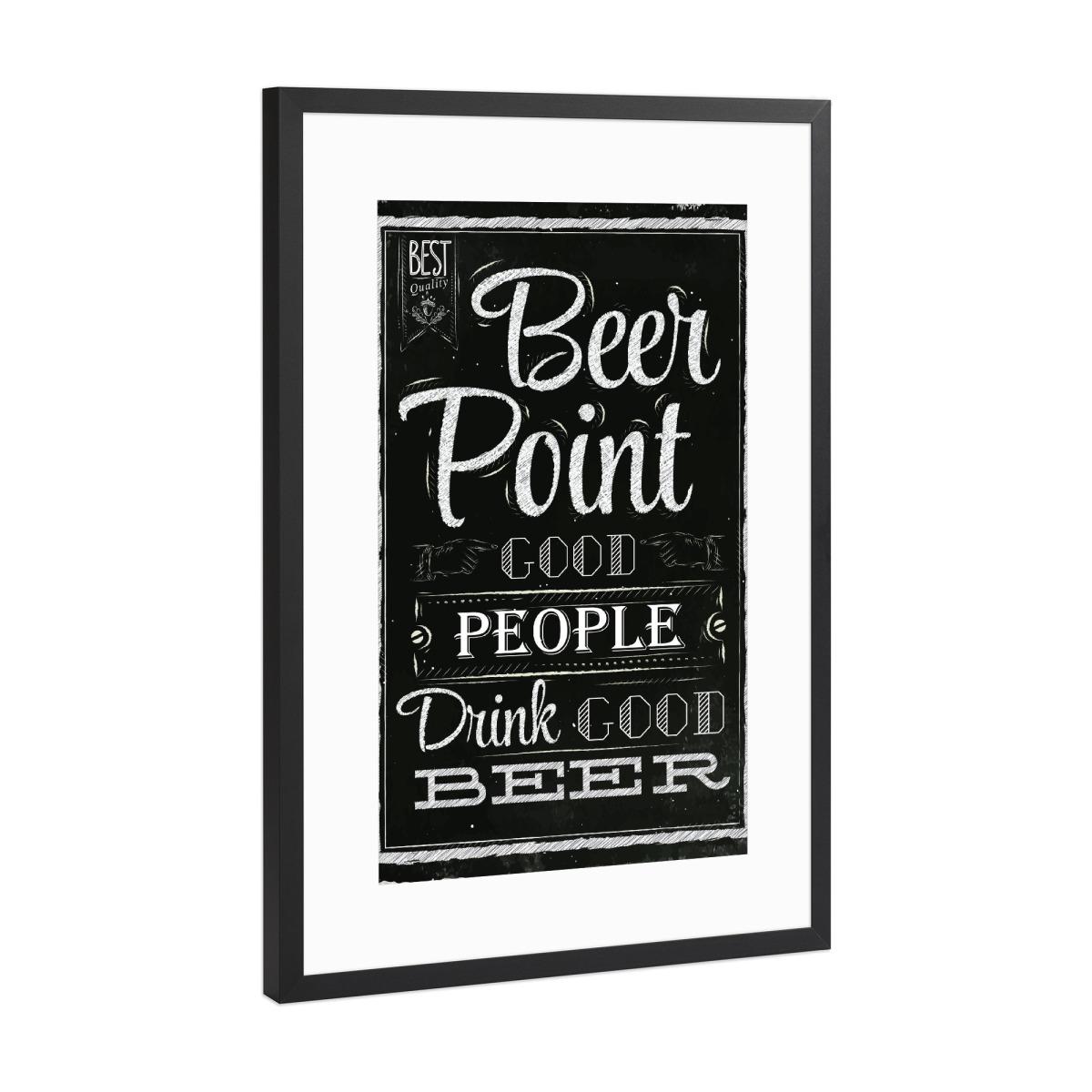 Poster beer point als Gerahmt bei artboxONE kaufen