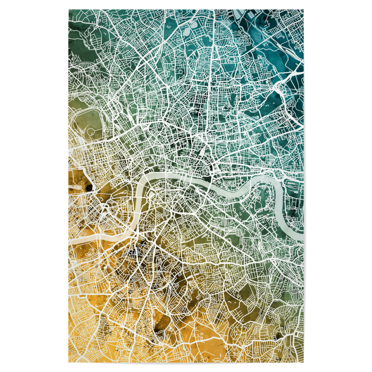 Map Of England Poster.Purchase The London England Street Map As A Poster At Artboxone