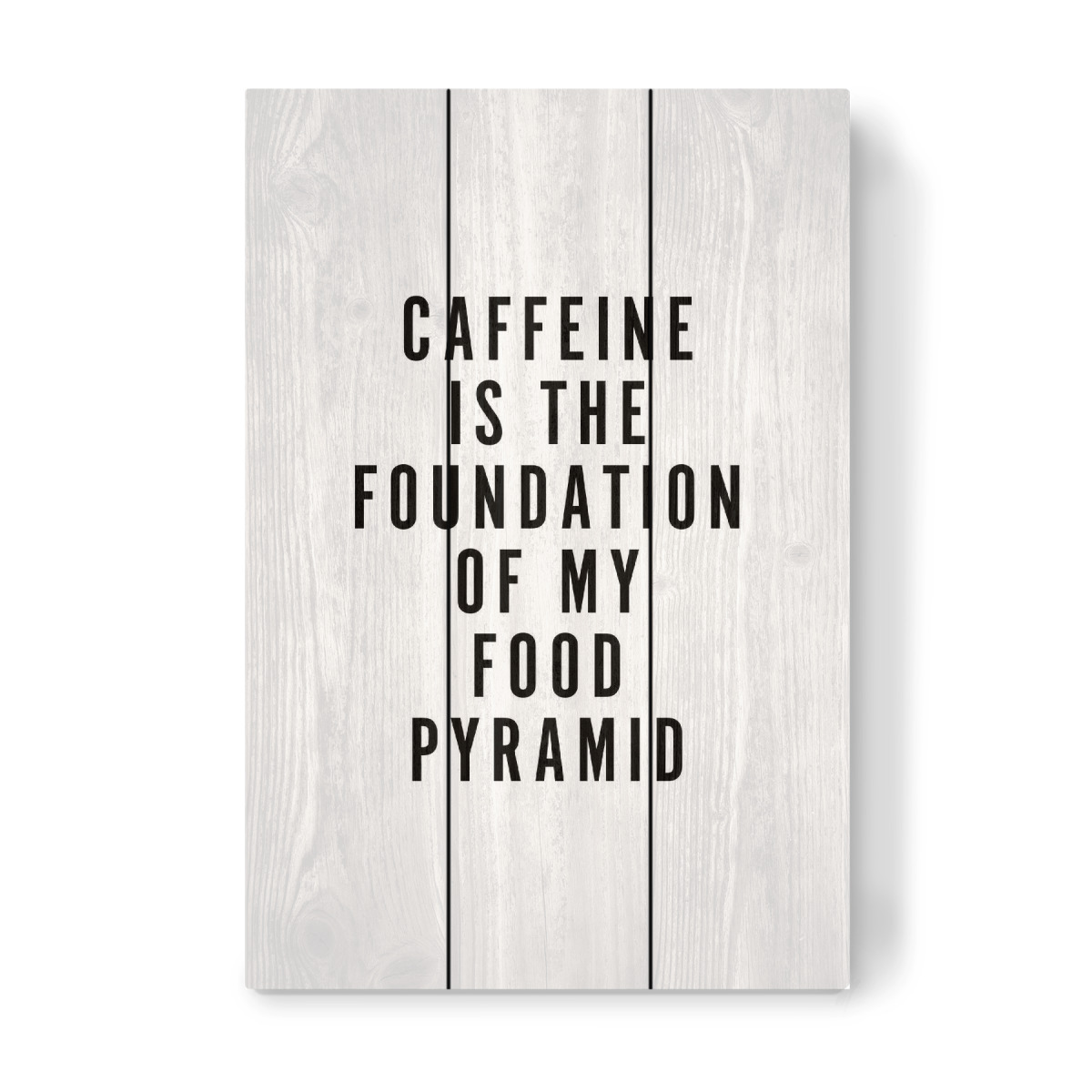 Purchase the Caffeine Foundation Food Pyramid as a Pine Wood at