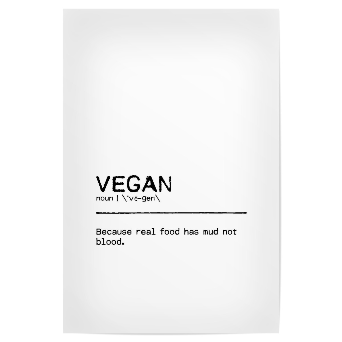 Purchase the Vegan Quote I as a Poster at artboxONE