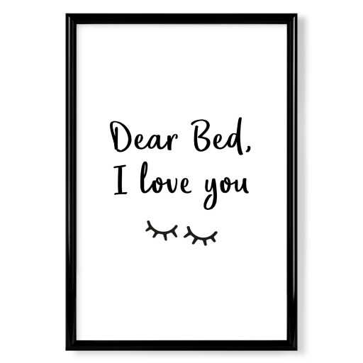 Dear Bed Poster