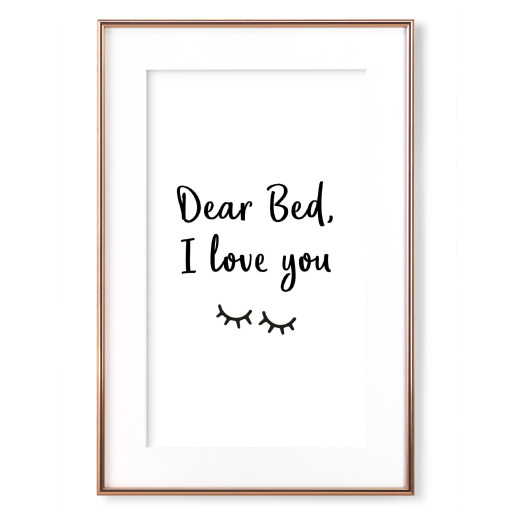 Dear Bed Gerahmt