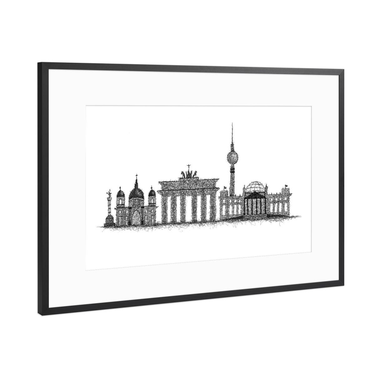 Skyline Berlin als Gerahmt bei artboxONE kaufen