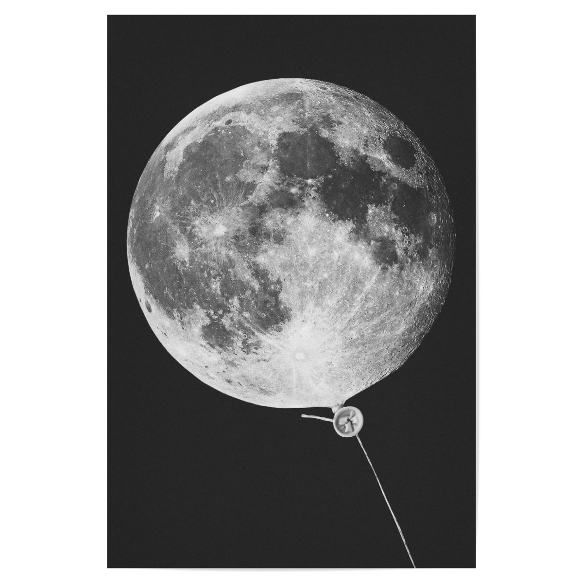 purchase the moon balloon as a poster at artboxone