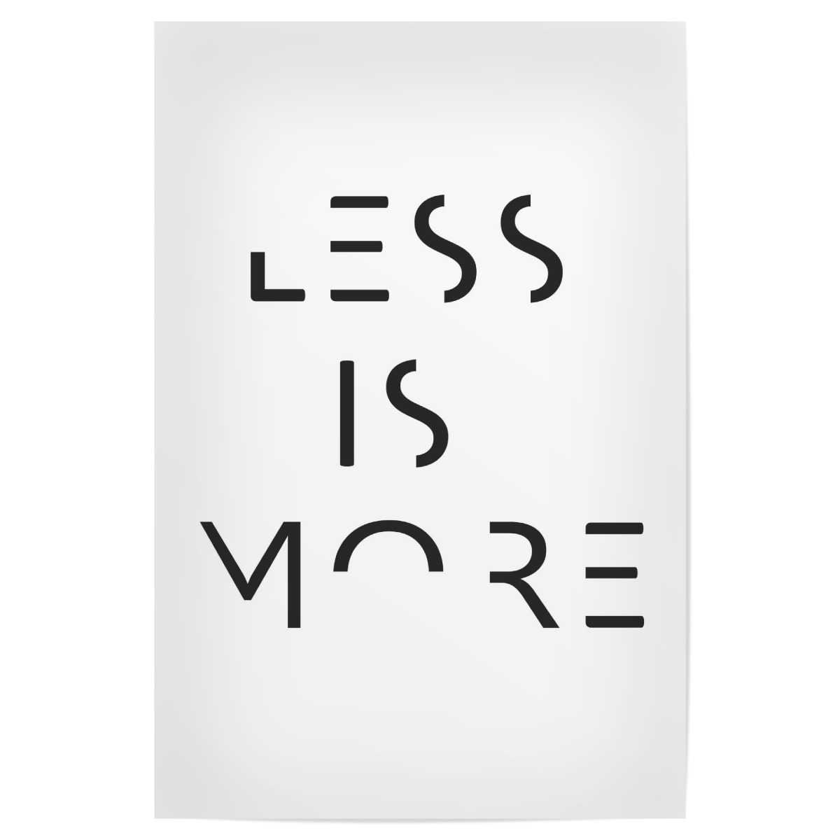 More less is