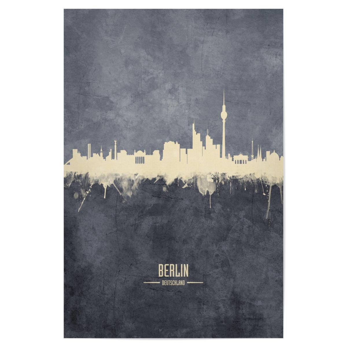 artboxONE Leinwand 30x20 cm St/ädte//Berlin Berlin Germany Skyline txt von Michael Tompsett