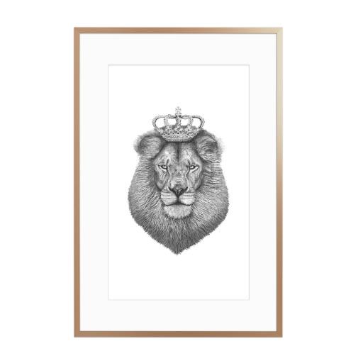 The King Gerahmt