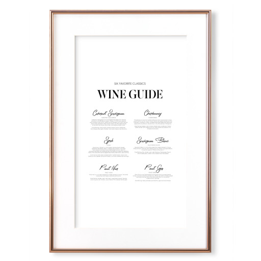 Wine guide to six favorite classics Gerahmt
