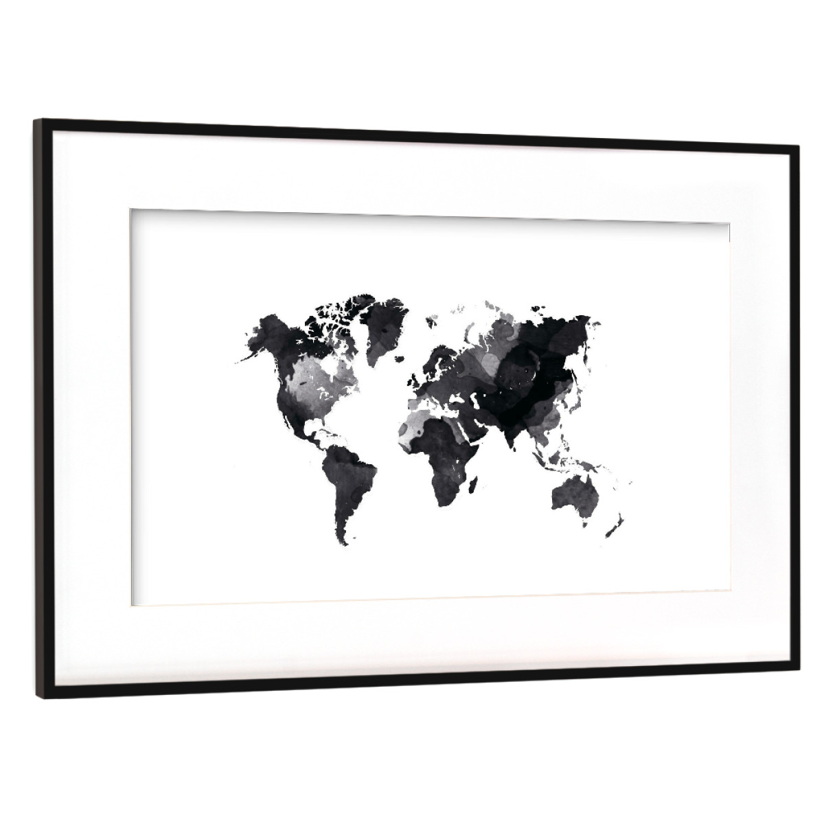 Purchase the world map white as a frame at artboxone image gumiabroncs Image collections