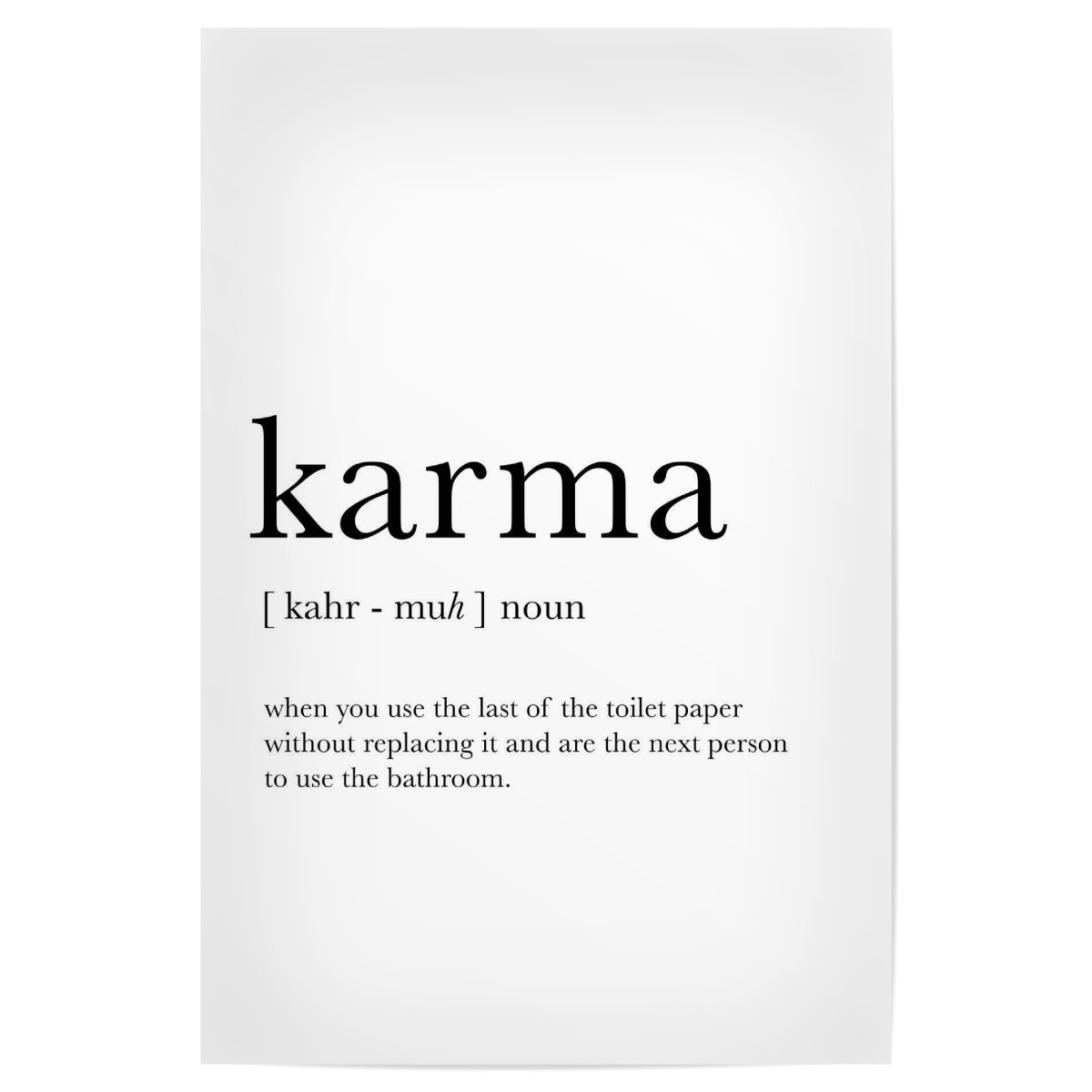 purchase the karma definition as a poster at artboxone