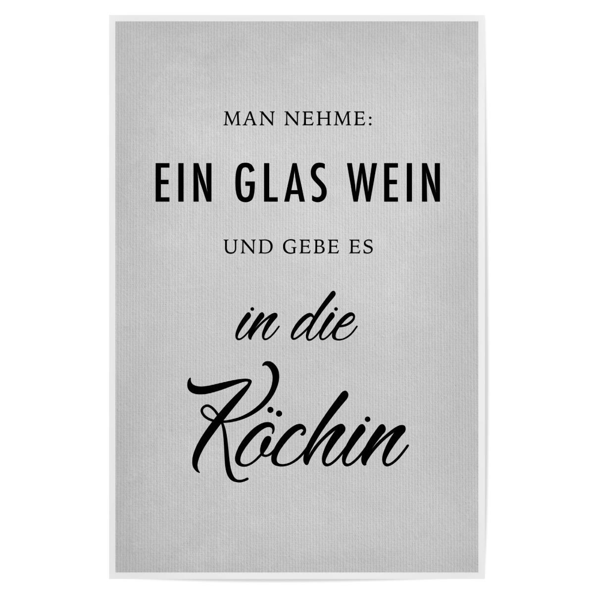 29ec51460e3dfd Ein Glas Wein - Köchin als Poster bei artboxONE kaufen