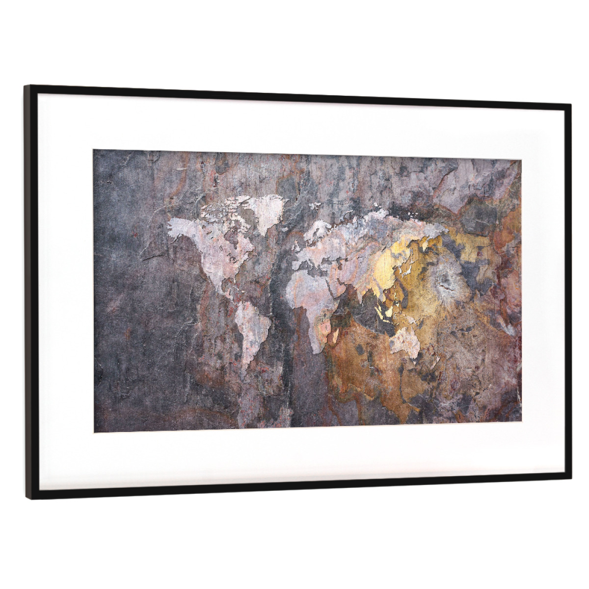 Purchase the world map on stone background as a frame at artboxone image gumiabroncs Gallery