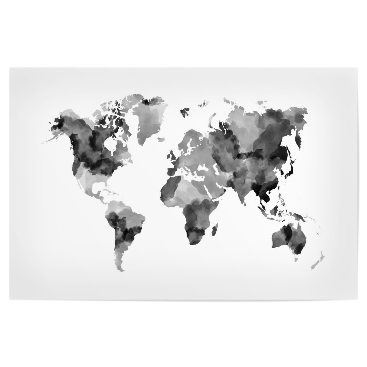 World Map black & white als Poster bei artboxONE kaufen