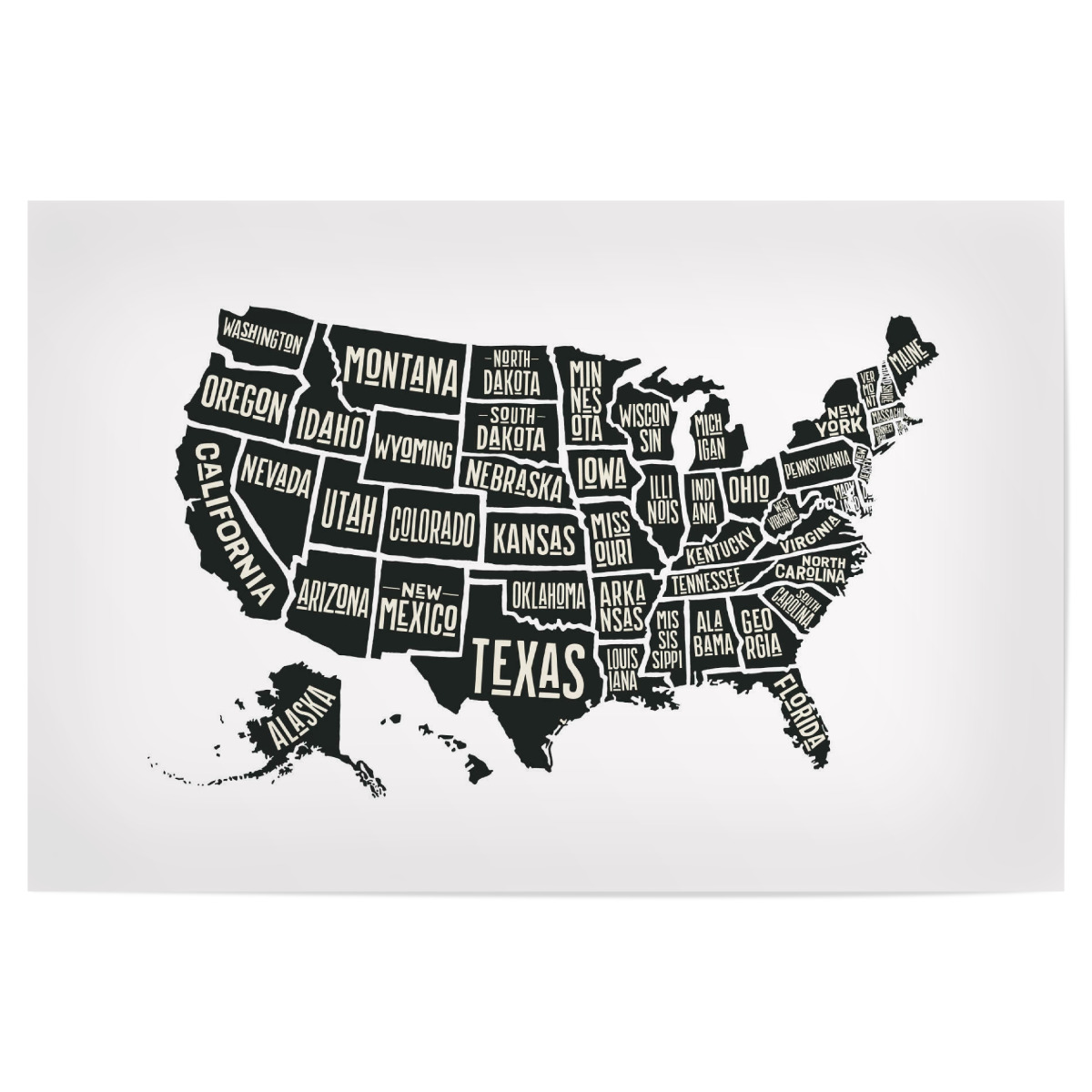 USA Map als Poster bei artboxONE kaufen