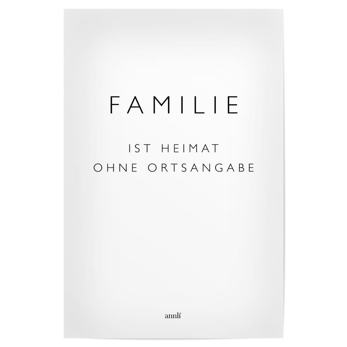 Familie Ist Heimat Ohne Ortsangabe Als Poster Bei Artboxone Kaufen