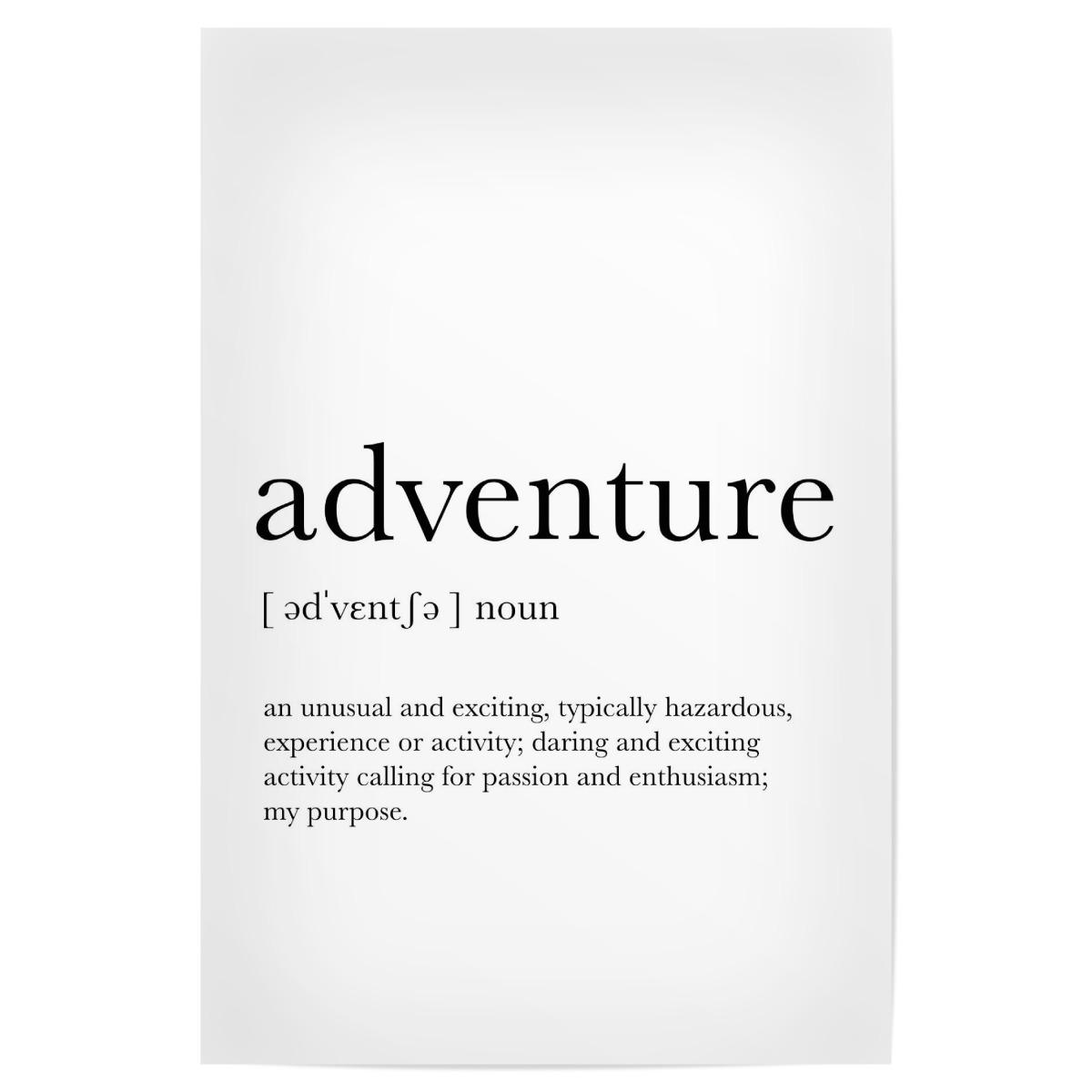 Adventure Definition als Poster bei artboxONE kaufen