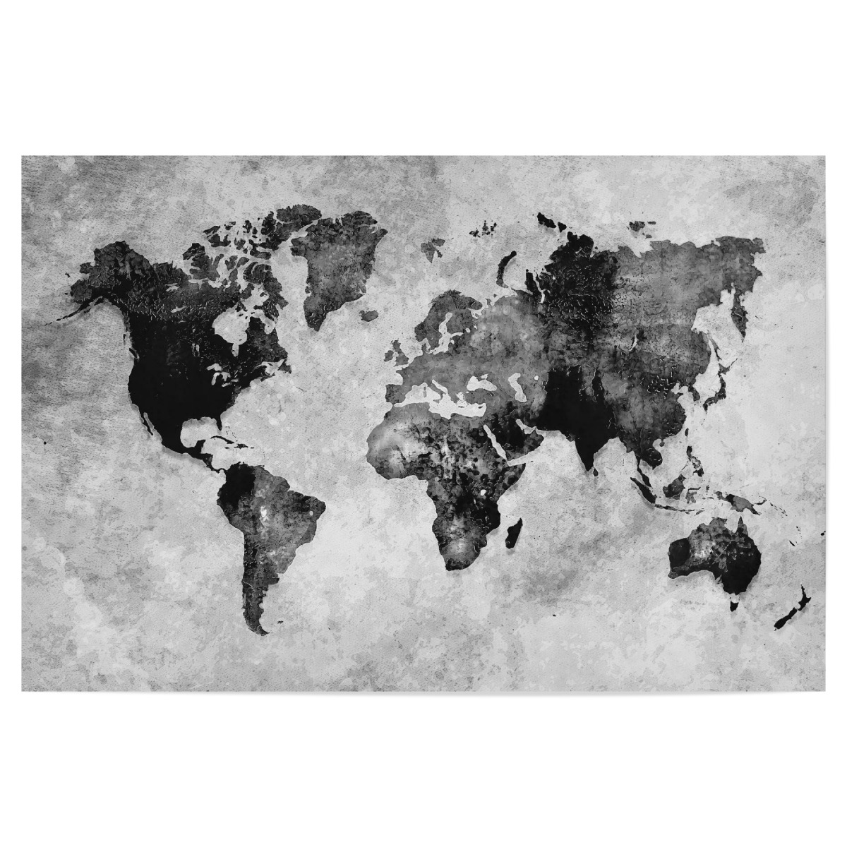 World map black and white als Poster bei artboxONE kaufen
