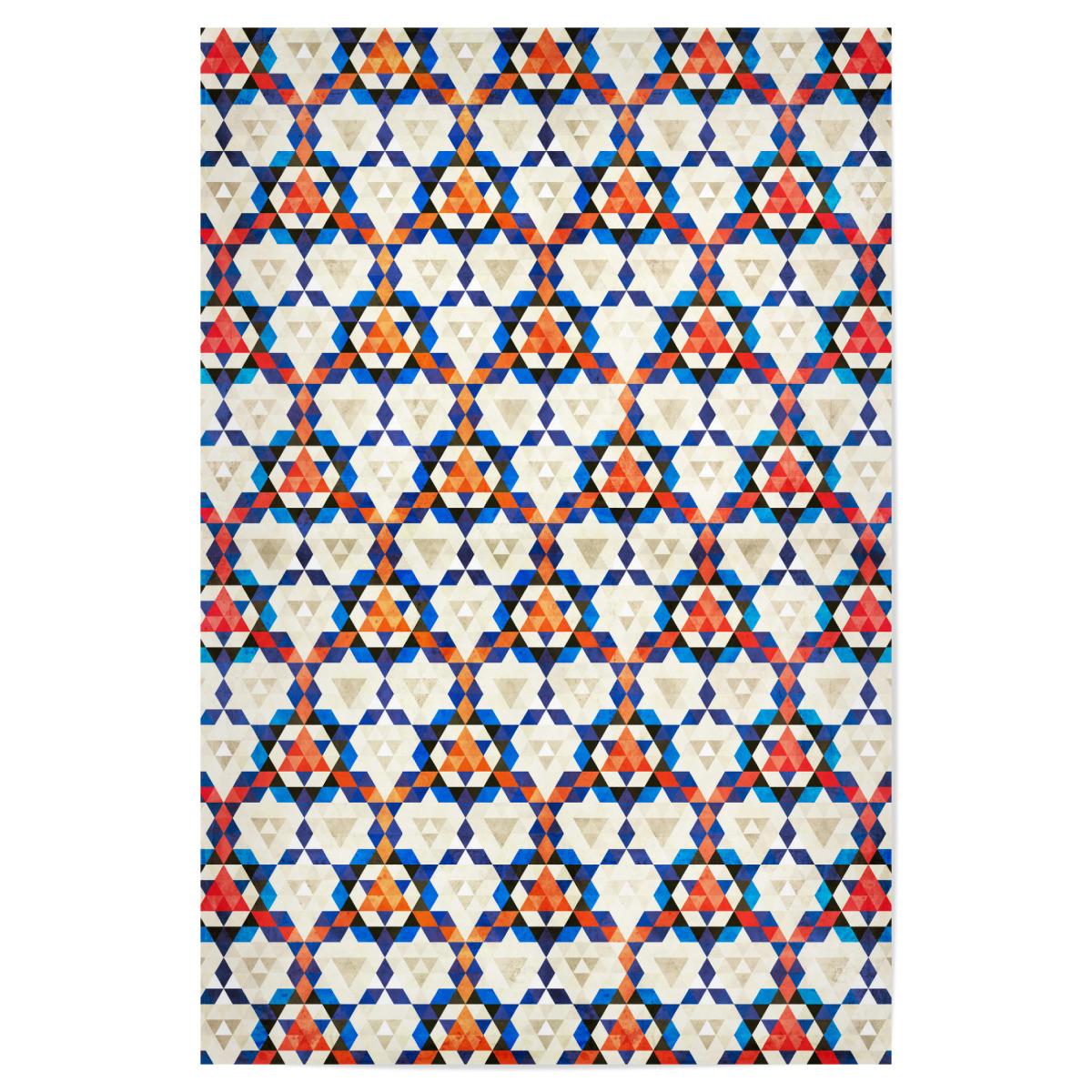 Orient Teppich Marokkanisches Muster Rosa